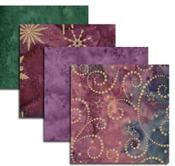 Hoffman Rich Purples Batik Fat Quarter Bundle