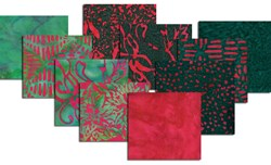 Hoffman Christmas Color Batik Fat Quarter Bundle