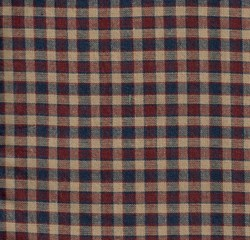 Homespun Fabric <br>Americana Check