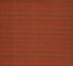 Homespun Fabric <br>Rust with green & red stripes