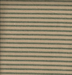 END OF BOLT-Homespun Fabric <br>Green Ticking Stripe