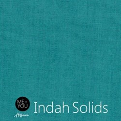 Me + You Indah Solids - Teal- By Hoffman Fabrics