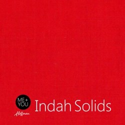 Me + You Indah Solids - Deep Red - By Hoffman Fabrics