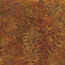 Island Batik - Green Acres - Brown/Gold Fern