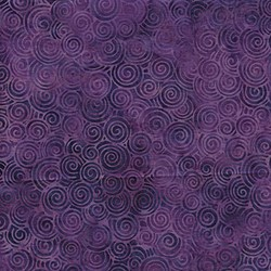 Island Batik Red Tide - Purple Swirls