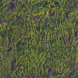 Island Batik Red Tide - Green& Purple Seaweed