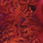 Island Batik - Equinox - Burgundy Leaves