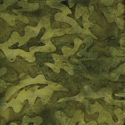 Island Batik - Equinox - Green Leaves