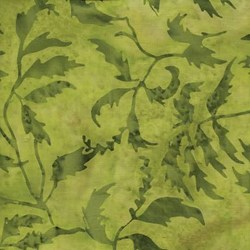 Island Batik -Green Leaf Pattern