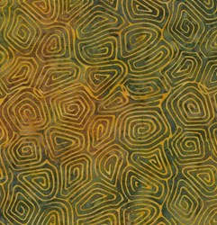 "10"" Remnant- Island Batik Rose of Sharon - Yellow Green Mazes"
