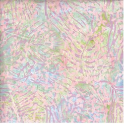 "End of Bolt - 49"" _ Island Batik Light Pastels Leaf"