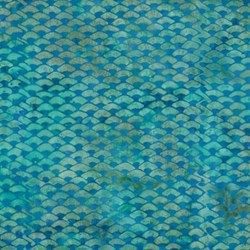 Island Batik- Blue Fish Scale