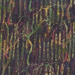 Island Batik Weeping Willow on Black
