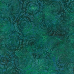 Island Batik Rose of Sharon - Fat Quarter - Sea Green Star Bursts