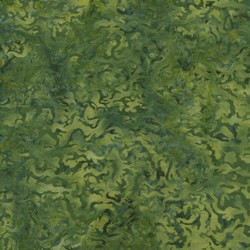 Island Batik Rose of Sharon - Green Etched Fat Quarter