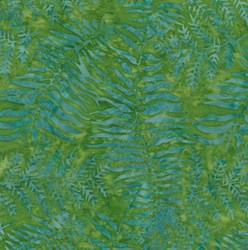 Island Batik Rose of Sharon - Fat Quarter - Green Ferns