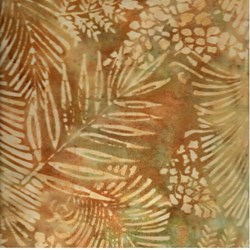 Island Batik Leaf Print on Earth Tones