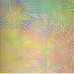 "36"" END OF BOLT REMNANT - Island Batik - Rainbow Fern"