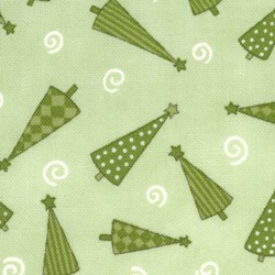 "24"" Remnant -  It's Snowing Flannel - Green Trees"