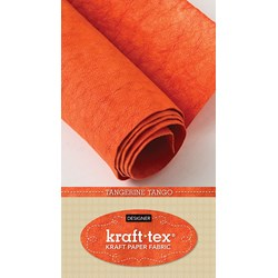 Kraft•tex™ in Tangerine - Now in Bright, Fun Colors!  Plus - Receive 6 Free Pattern Downloads from CT Pub with Purchase!