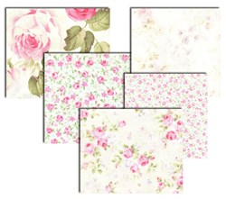 Lecein- Mini Fat Quarter packs - Fancy Florals - White