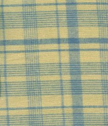 Vintage Jan Patek- Fat Quarter - Liberty Garden - Homespun Blue/Tan Plaid