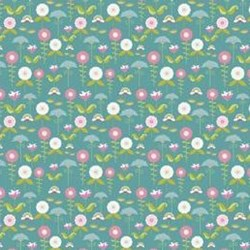 "29"" Remnant- Love Birds Blue Garden by Riley Blake Fabrics"