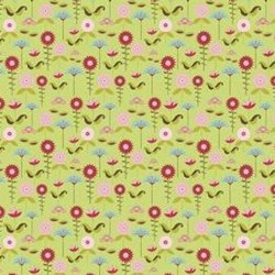 "14"" Remnant - Love Birds Green Garden by Riley Blake Fabrics"