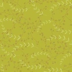 "28"" Remnant- Love Birds Green Leaves by Riley Blake Fabrics"