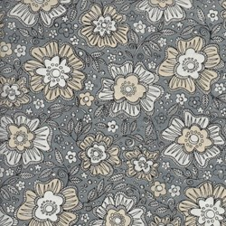 Love More -Silver Floral - by P&B Textiles