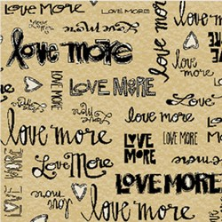 Love More -Love More Words in Black - by P&B Textiles