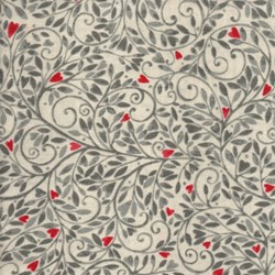 "16"" Remnant - Love More -Silver Swirly Vine - by P&B Textiles"