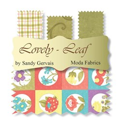 Lovely Fat Quarter Bundle - Leaf Colorway Plus Panel