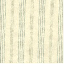 Blue Woven Stripes on White - Woolies Cotton Flannel