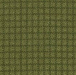 "End of Bolt - 45"" - Woolies Flannel - Green Check - by Maywood Studios"