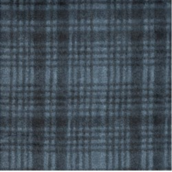 Woolies Flannel - Blue with Plaid - by Maywood Studios
