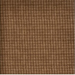 "End of Bolt - 69"" - Woolies Flannel - Brown Mini Houndstooth  - by Maywood Studios"