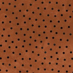 Woolies Flannel - Dark Orange with Black Dot - by Maywood Studios