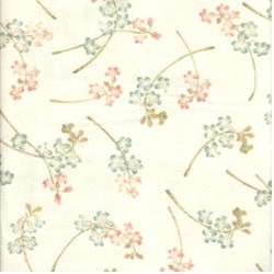 "14"" Remnant- Medium Floral on White - Woolies Cotton Flannel"