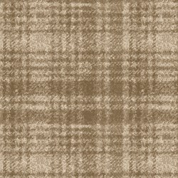 "End of Bolt - 48"" - Woolies Flannel - Tan with Plaid - by Maywood Studios"