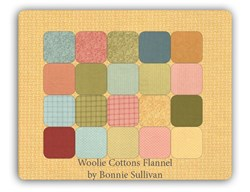 Spring Woolie Flannel Fat Quarter Pack by Bonne Sullivan