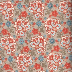 Grant Park - Paisley Floral on Tan - by Polly Minick and Laurie Simpson for MODA