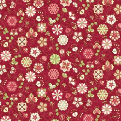 Floral Circles on Raspberry - Mulberry Lane-Raspberry Lane By Susan Beevers