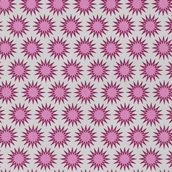 Paintbox Basics Cerise Sun Bursts by Elizabeth Hartman for Robert Kaufman Fabrics