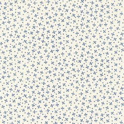 Vintage Shirting & Dress Prints 1880 to 1910 - Cream/Blue Mini Dots - by Paintbrush Studios