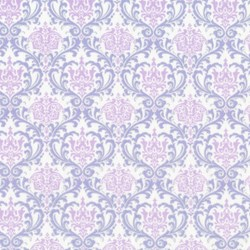 Piccadilly - Purple/Lilac Medallions with Silver Metallic Shimmer - by Paintbrush Studios