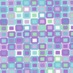 Piccadilly - Multi Geometric Squares with Silver Metallic Shimmer - by Paintbrush Studios