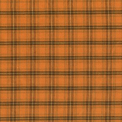 Homespun Fabric <br>Pumkin Patch Plaid - Orange/Brown squares<br>by Renee Nanneman for Andover Fabrics