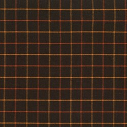 Homespun Fabric <br>Pumkin Patch Plaid - Black & Orange Checks<br>by Renee Nanneman for Andover Fabrics