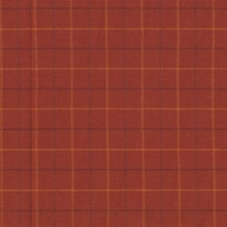 Homespun Fabric <br>Pumkin Patch Plaid Orangie-Red squares<br>by Renee Nanneman for Andover Fabrics